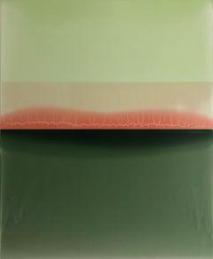 """Susan English """"Glance"""" Abstract Painting on Panel"""