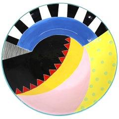 Susan Eslick Postmodern Art Pottery Charger Plate
