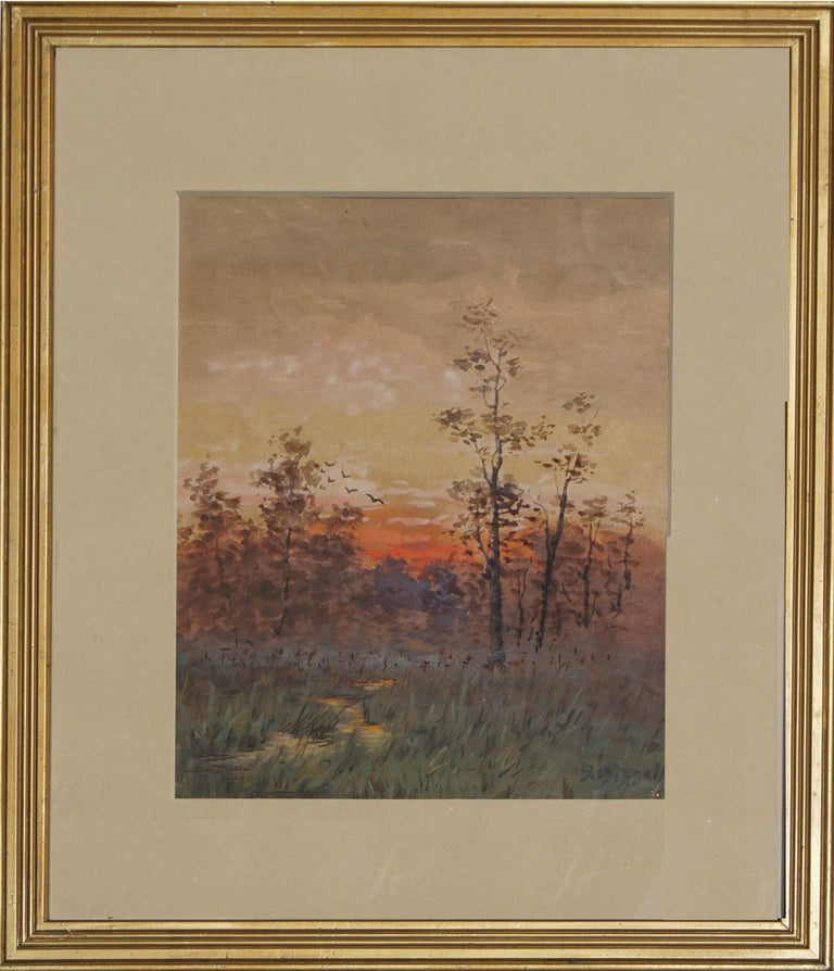 Susan Field Bissell Landscape Painting - Late 19th Century Berkshire Sunrise Landscape