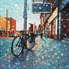 Always On Time -  Original Pointillist Textured Artwork