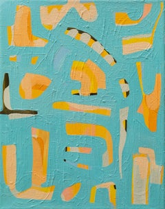 """""""Orange Crush"""" - colorful abstract painting - patterns - Milton Avery"""