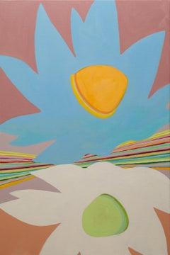 """Xanadu"" - color block painting - patterns - Alex Katz"