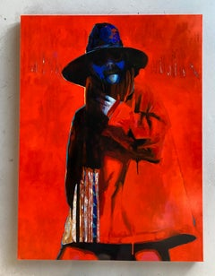 """Acrylic on Canvas Titled """"The Red Coat"""""""