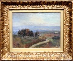 Italian Landscape - British 19thC art Impressionist oil painting female artist
