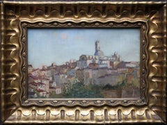 Siena Italy - 19thC British Impressionist oil painting cityscape female artist