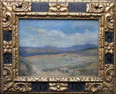 Spanish Landscape - British Edwardian Impressionist oil painting female artist