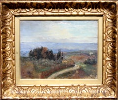 Tuscan Landscsape - 19thC British Impressionist oil painting female artist