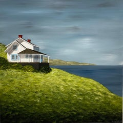 Above the Bay by Susan Kinsella, square contemporary landscape
