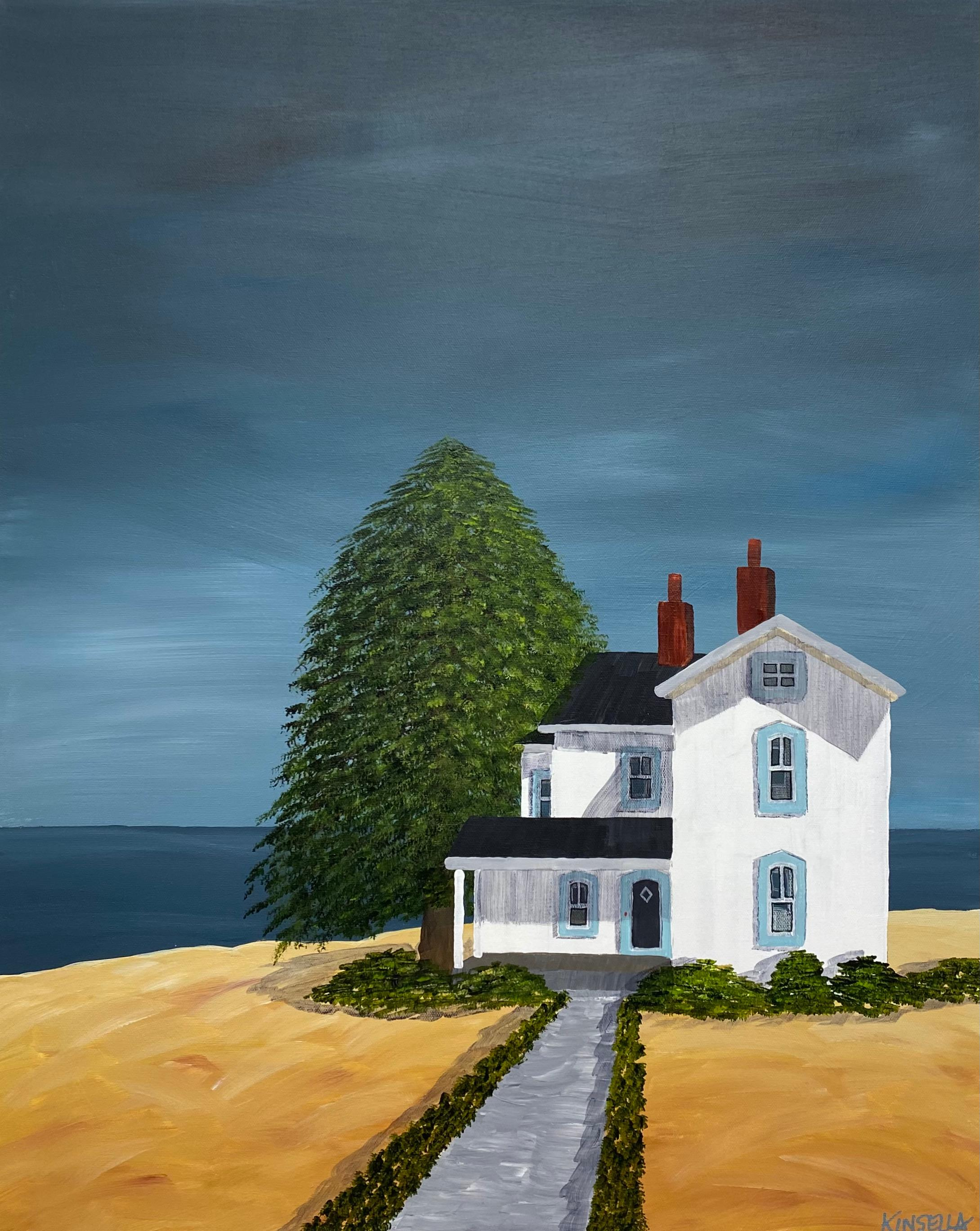 Afternoon at the Shore Susan Kinsella, Landscape Acrylic on Canvas Painting