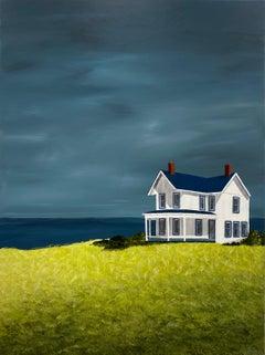 Blue Sky Cottage by Susan Kinsella, medium vertical contemporary landscape