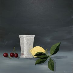 Cherry Lemonade by Susan Kinsella, Contemporary Square Still-Life Painting