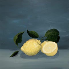 Citron by Susan Kinsella, Contemporary Acrylic Square Still-Life Painting