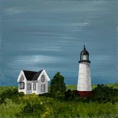 Coastal Life by Susan Kinsella, Landscape Acrylic on Canvas Painting