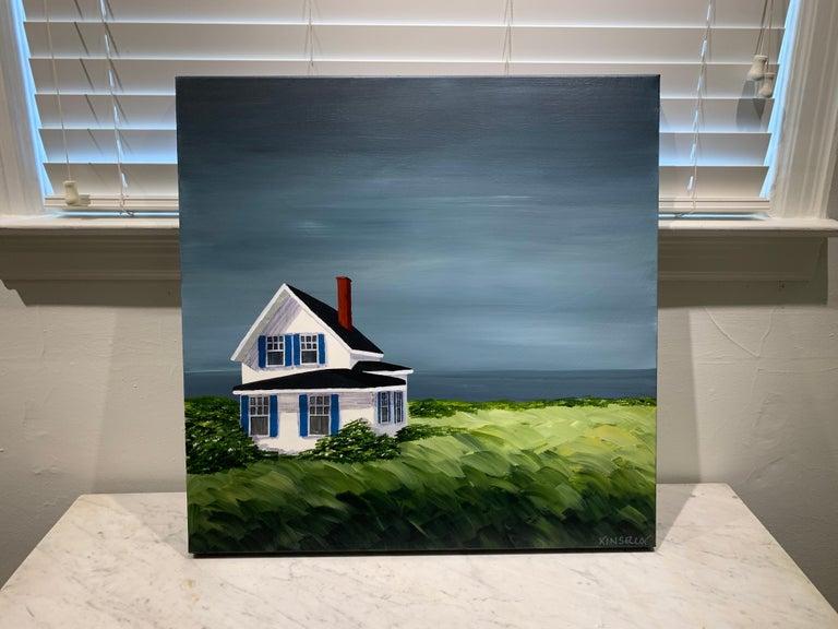 Comfort Cottage Susan Kinsella, Square Landscape Acrylic on Canvas Painting 1