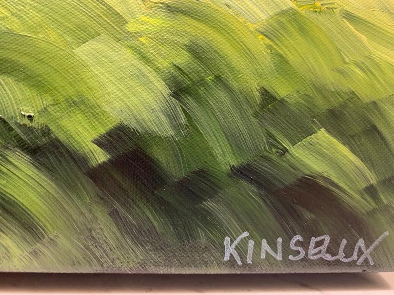 Comfort Cottage Susan Kinsella, Square Landscape Acrylic on Canvas Painting 2