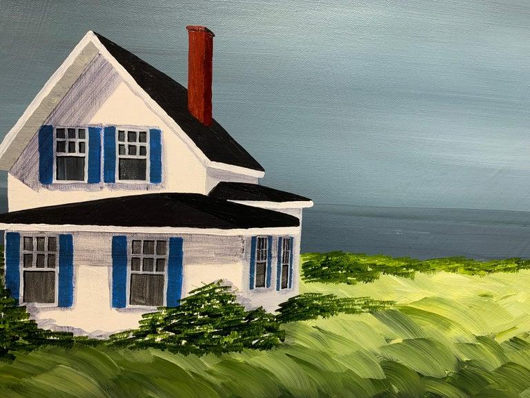 Comfort Cottage Susan Kinsella, Square Landscape Acrylic on Canvas Painting 3