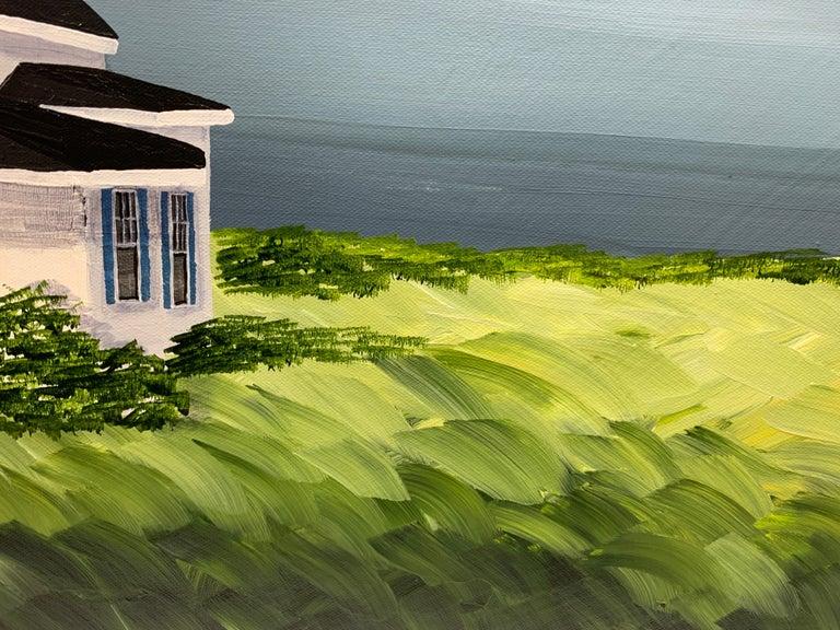 Comfort Cottage Susan Kinsella, Square Landscape Acrylic on Canvas Painting 4