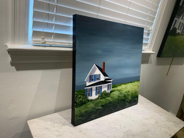 Comfort Cottage Susan Kinsella, Square Landscape Acrylic on Canvas Painting 5