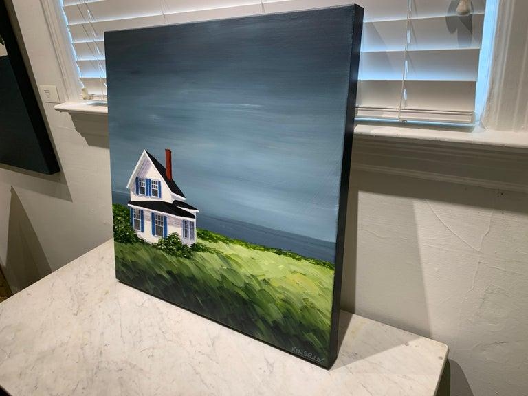 Comfort Cottage Susan Kinsella, Square Landscape Acrylic on Canvas Painting 6