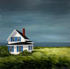 Comfort Cottage Susan Kinsella, Square Landscape Acrylic on Canvas Painting