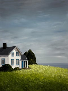 Cottage at the Cape by Susan Kinsella, medium vertical contemporary landscape