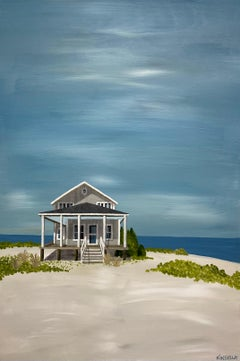 Cottage at the Sea by Susan Kinsella, Landscape Acrylic on Canvas Painting