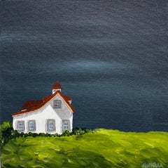 Cottage VI by Susan Kinsella, Landscape Acrylic on Canvas Painting