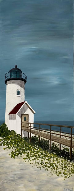 Finding Hope by Susan Kinsella, Acrylic on Canvas Vertical Lighthouse Painting