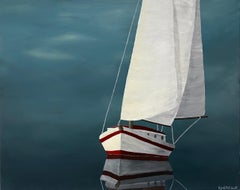 In the Glowing Light by Susan Kinsella, Nautical Acrylic on Canvas Painting