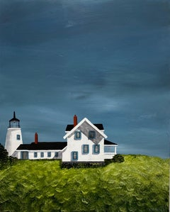 Keeping the Light by Susan Kinsella, Landscape Acrylic on Canvas Painting