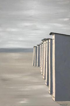 Le Coucher du Soleil, Susan Kinsella 2018 Realist Oil on Canvas Beach Painting
