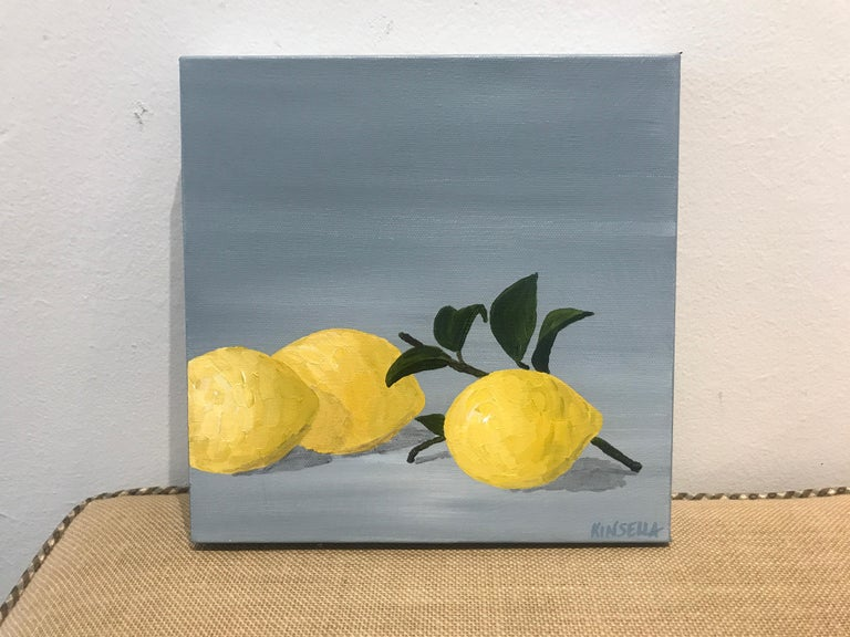 Lemons I by Susan Kinsella, Small Contemporary Still-Life Square Format Painting 2