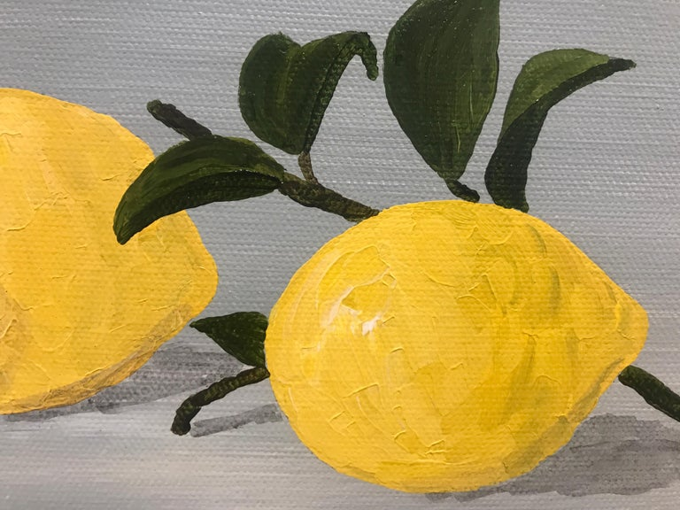 Lemons I by Susan Kinsella, Small Contemporary Still-Life Square Format Painting 4