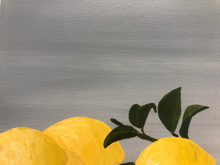Lemons I by Susan Kinsella, Small Contemporary Still-Life Square Format Painting 6