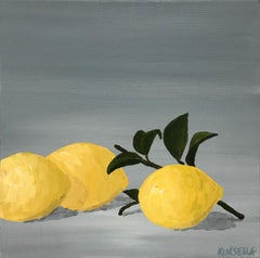 Lemons I by Susan Kinsella, Small Contemporary Still-Life Square Format Painting