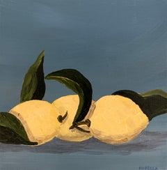 Lemons IV by Susan Kinsella, Contemporary Square Still-Life Painting