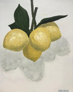Lemons Suspended by Susan Kinsella, Vertical Contemporary Still-Life Painting