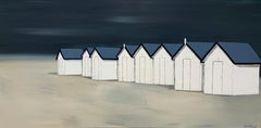 Les Ombres du Soir by Susan Kinsella, Horizontal Contemporary Beach Painting