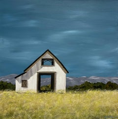 Little Barn on the Prairie by Susan Kinsella, Acrylic on Canvas Painting