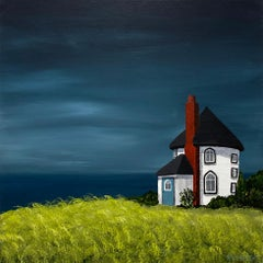 Magical Cottage by Susan Kinsella Contemporary Acrylic Landscape Painting