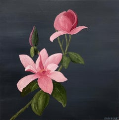 Pretty in Pink by Susan Kinsella Contemporary Acrylic Square Still-Life Painting