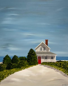 Retreat on the Sea by Susan Kinsella, Landscape Acrylic on Canvas Painting