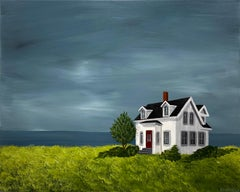 Sanctuary Cottage by Susan Kinsella, Nautical Acrylic on Canvas Painting