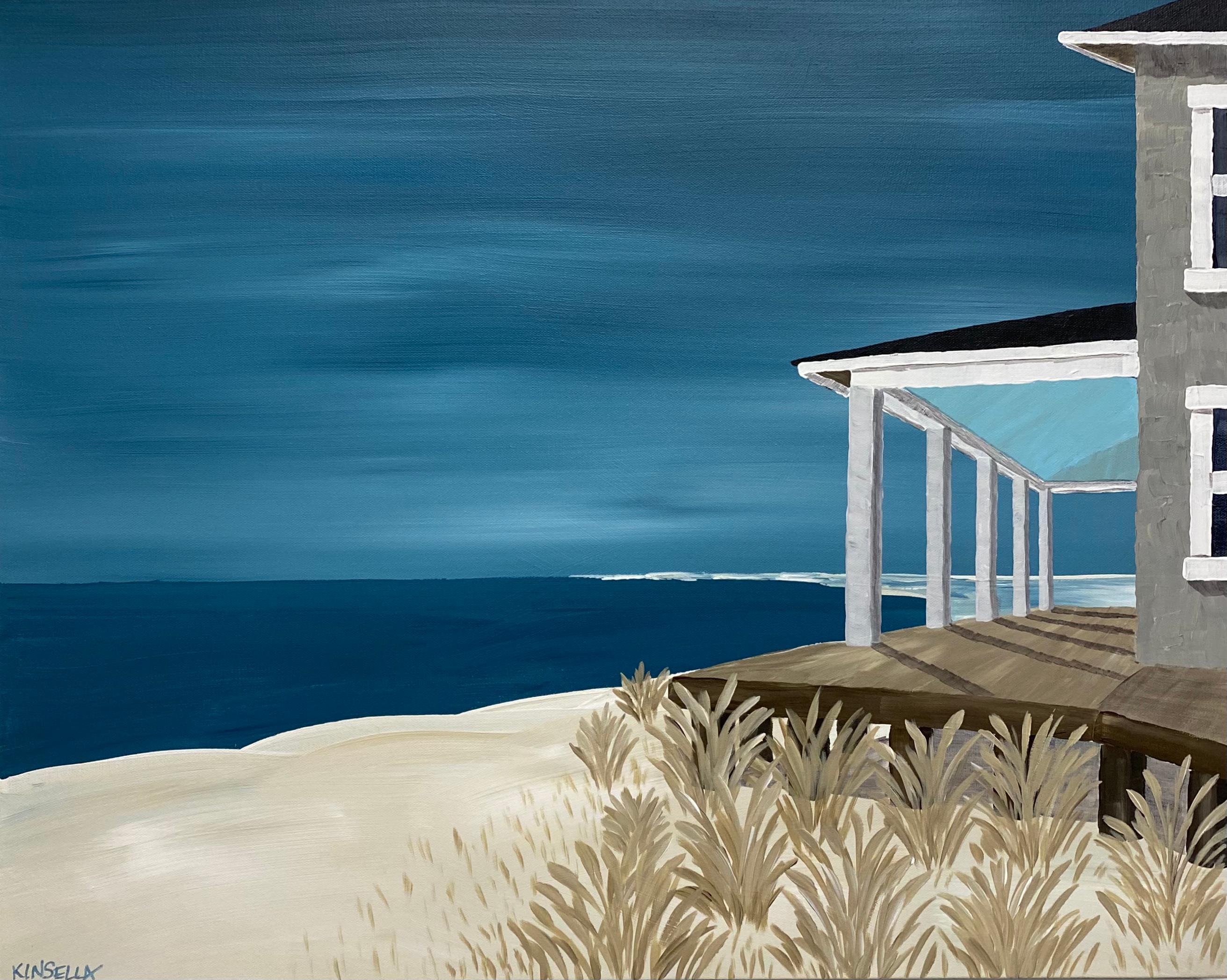 Sea Oats Susan Kinsella, Landscape Acrylic on Canvas Painting