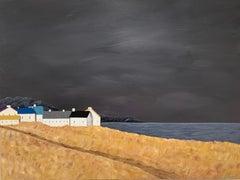 Seagrass Village by Susan Kinsella, medium horizontal contemporary landscape