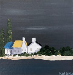 Small Work #20 by Susan Kinsella, Small Acrylic Contemporary Coastal Painting