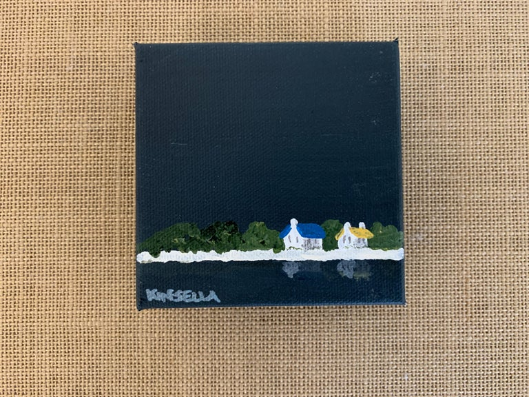 Small Work C7 by Susan Kinsella, Small Acrylic Contemporary Coastal Painting For Sale 1