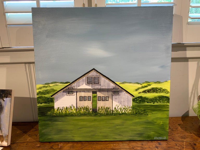 Summer on the Prairie by Susan Kinsella, Landscape Acrylic on Canvas Painting For Sale 2