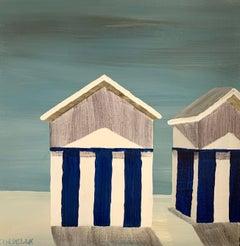 Sur la Plage by Susan Kinsella, Landscape Acrylic on Canvas Painting