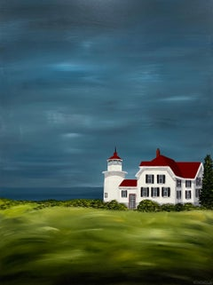 The Lighthouse by Susan Kinsella, medium vertical contemporary landscape